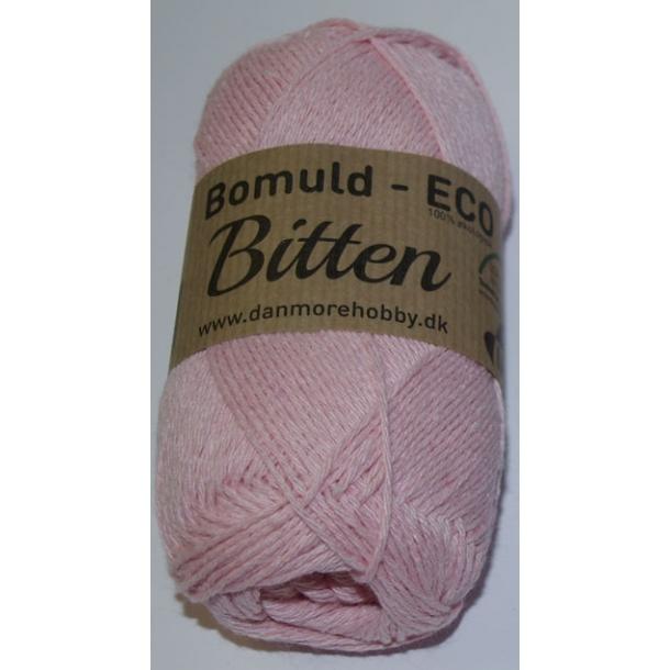 Garn Bitten bomuld Eco Baby lyserød 62 - 10 stk.