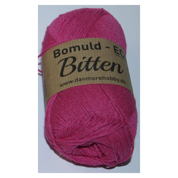 Garn Bitten bomuld Eco Pink 7 - 4 stk.