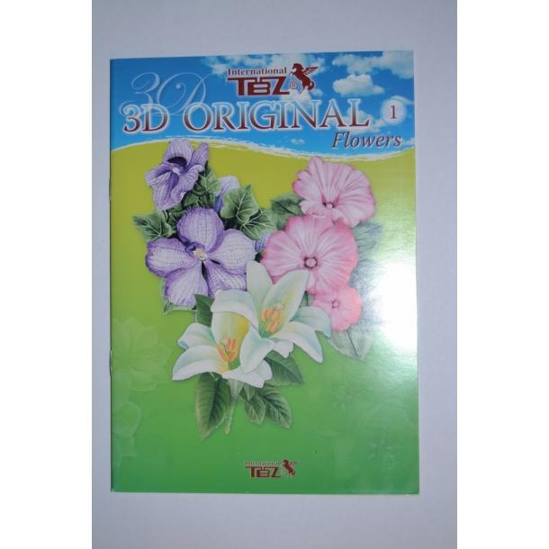 3D Bog/hæfte nr. 1 blomster