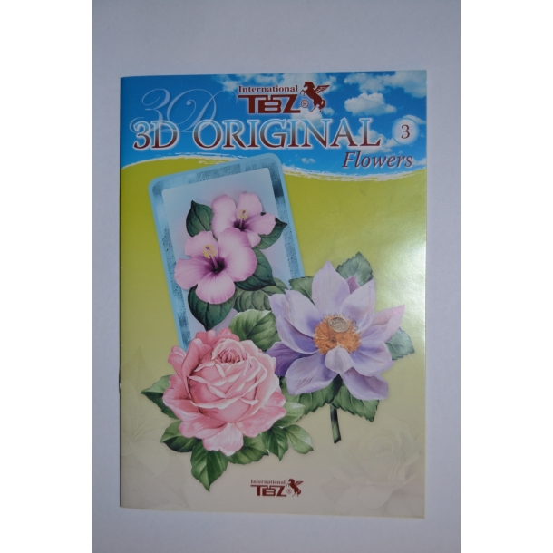 3D Bog/hæfte nr. 3 blomster og roser