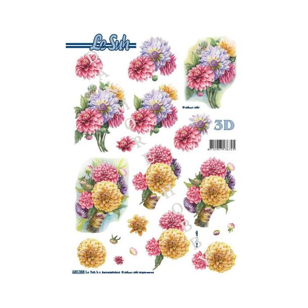 3D ark udstanset blomster