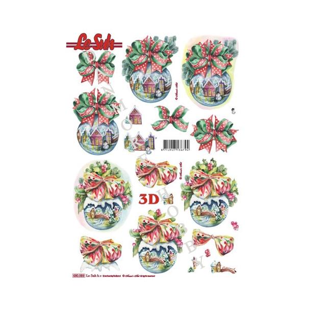 3D ark udstanset julekugler