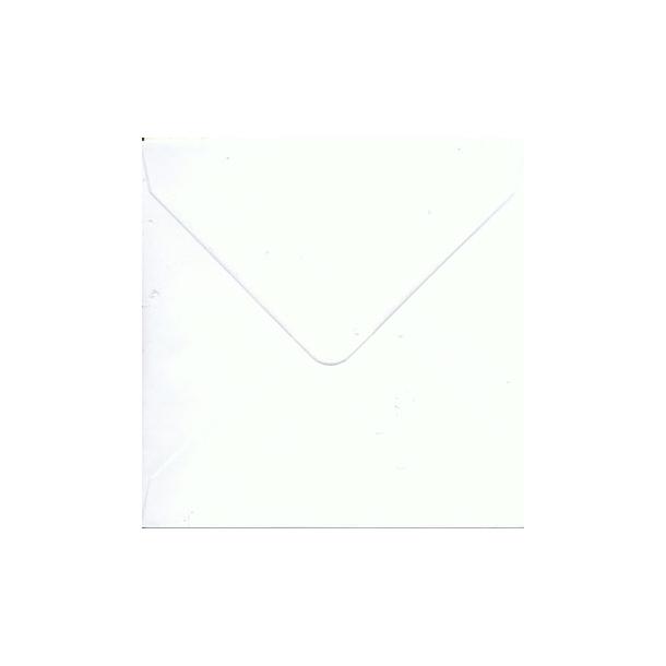 Kuvert 14,0 x 14,0 cm hvid med spids lukning 10 stk.