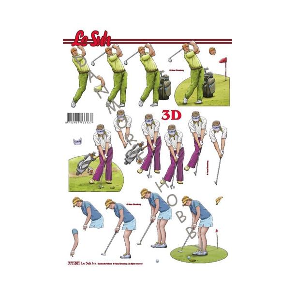 3D ark Golfspillere