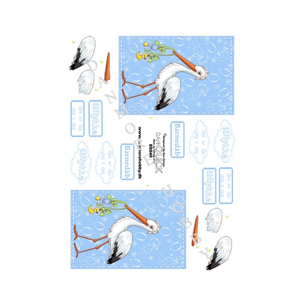 3D ark Dan-quick stork dreng