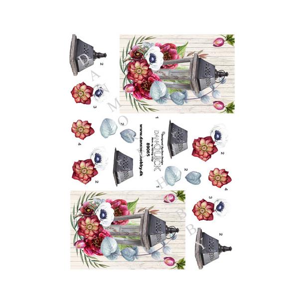 3D ark Dan-quick lygte med blomst
