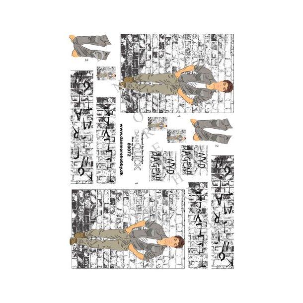 3D ark Dan-quick ung mand v. murstensvæg