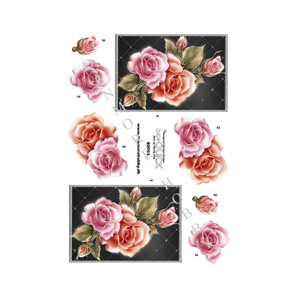 3D ark rose