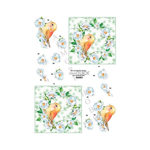 3D ark Dan-Quick fugl i blomst