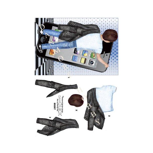 3D ark Dan-Quick dreng m/iphone blå A5