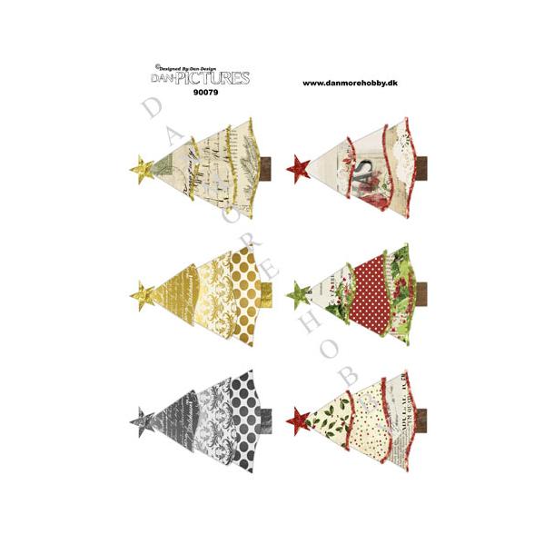 3D ark Dan-pictures juletræer